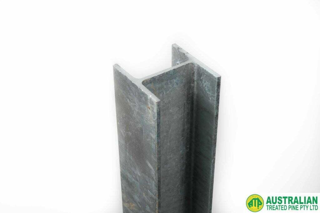 galvanised retaining wall h section australian treated