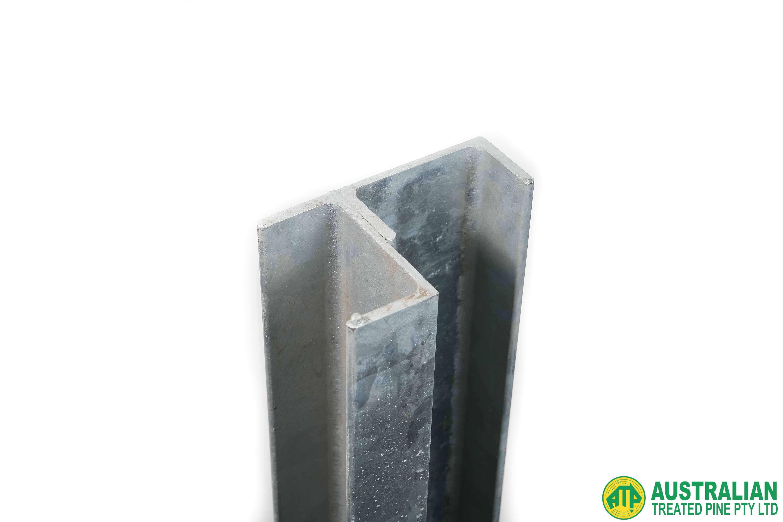 galvanised retaining wall posts